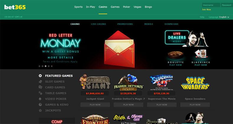 Bet 365 Homepage
